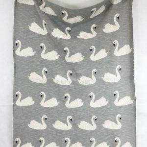 baby blanket swans