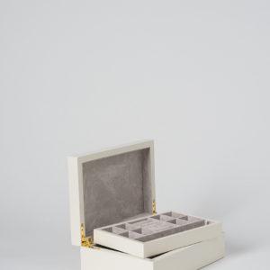 Small Jewellery Box In Ecru by Citta