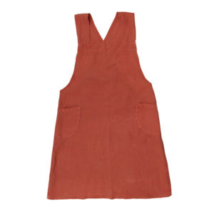 Cross-Back-Apron-Rust-Stonewashed-Linen-(BF0248)