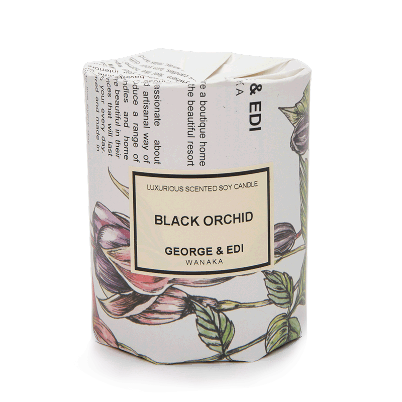 George & Edi Medium Candle - Black Orchid
