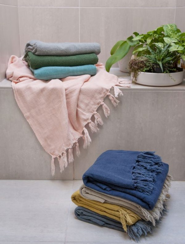 Mulberi Indira Cotton & Linen Blend Throw