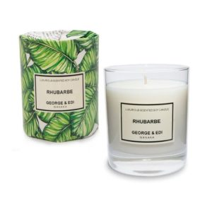 George & Edi Large Candle - Rhubarbe