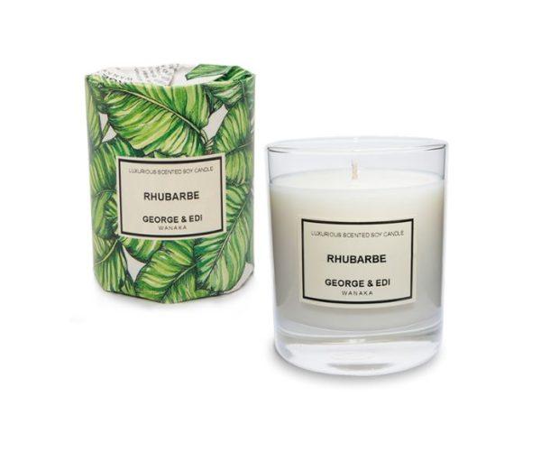 George & Edi Large Candle - Rhubarbe