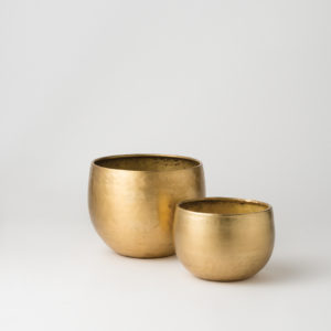 Citta Gava Planter Set 2 Brass