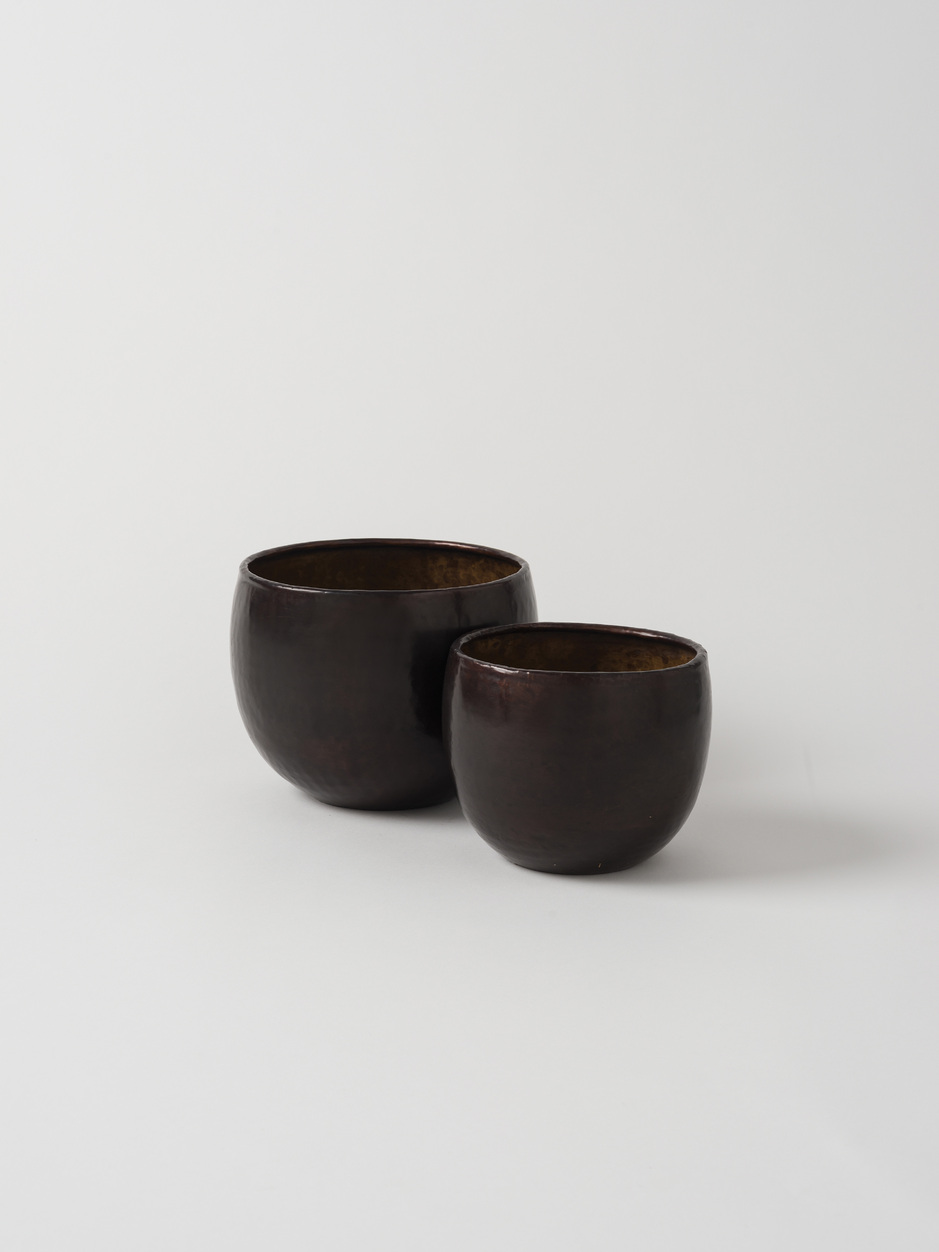 Citta Gava Planter Set of 2 - Antique Brown