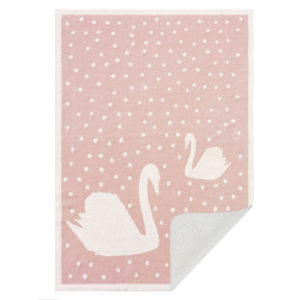 Swan Sherpa Baby Blanket