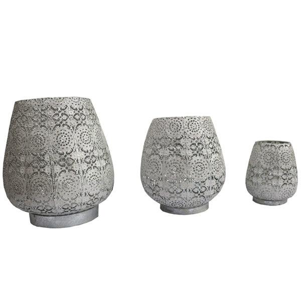 Carillon Lantern White/Silver
