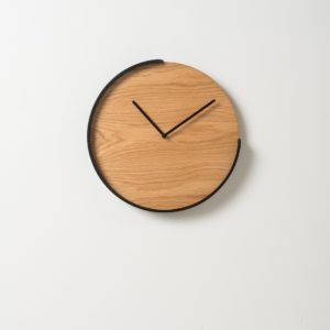 Citta Segment Clock - Oak & Black