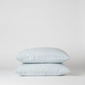 Citta Sove Linen Pillowcase Pair in Duck Egg