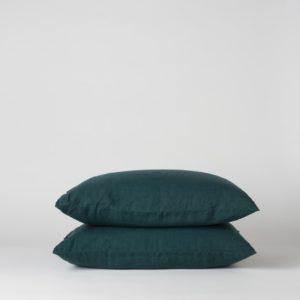 Citta Sove Linen Pillowcase Pair in Jungle