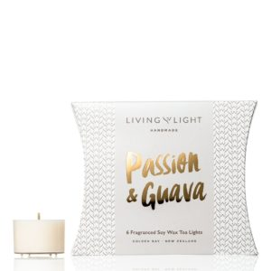 Living Light Dream Soy Tea Lights - Passion & Guava