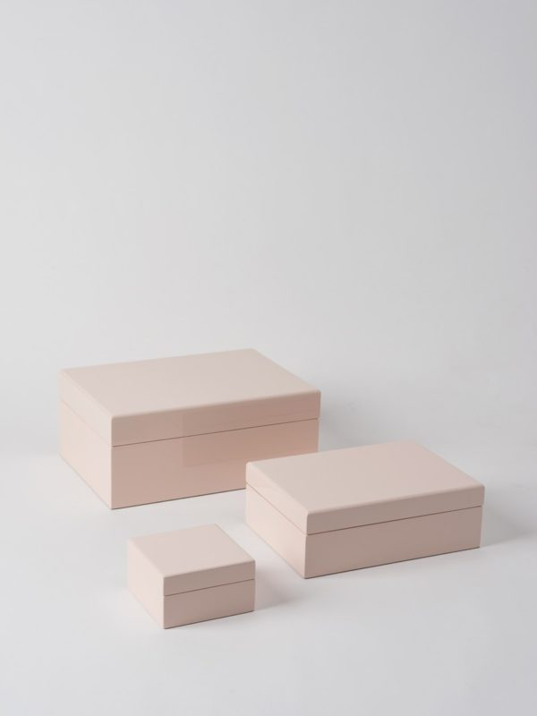 Jewellery Box In Shell Pink by Citta