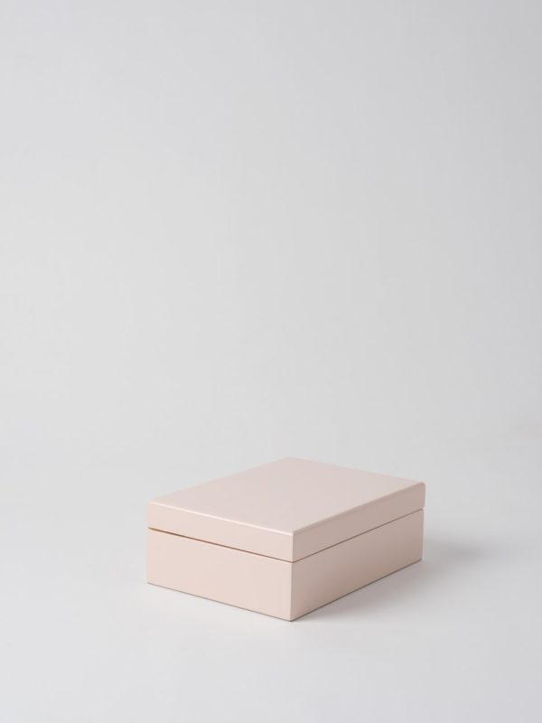Small Jewellery Box In Shell Pink by Citta