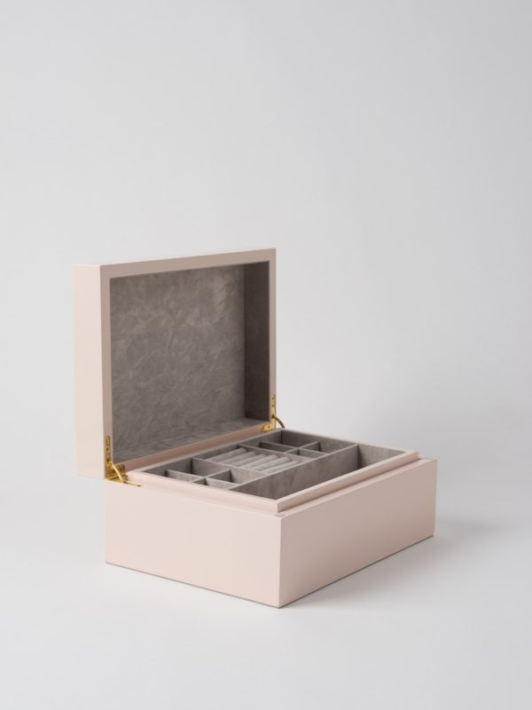 Large Jewellery Box in Shell Pink by Citta