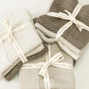 Bianca Lorenne Cheval Washcloths - Taupe