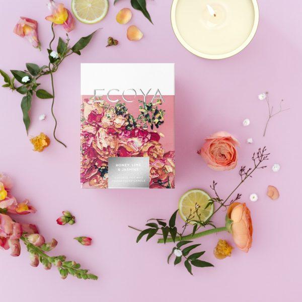 ECOYA Summer Garden - Honey, Lime & Jasmine Madison Candle
