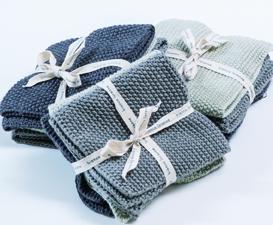 Bianca Lorenne Lavette Washcloths - Grey