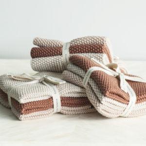 Bianca Lorenne Lavette Washcloths - Vintage Rose