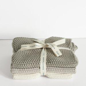 Bianca Lorenne Lavette Washcloths - Taupe