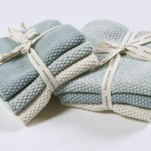 Bianca Lorenne Lavette Washcloths - Duck Egg