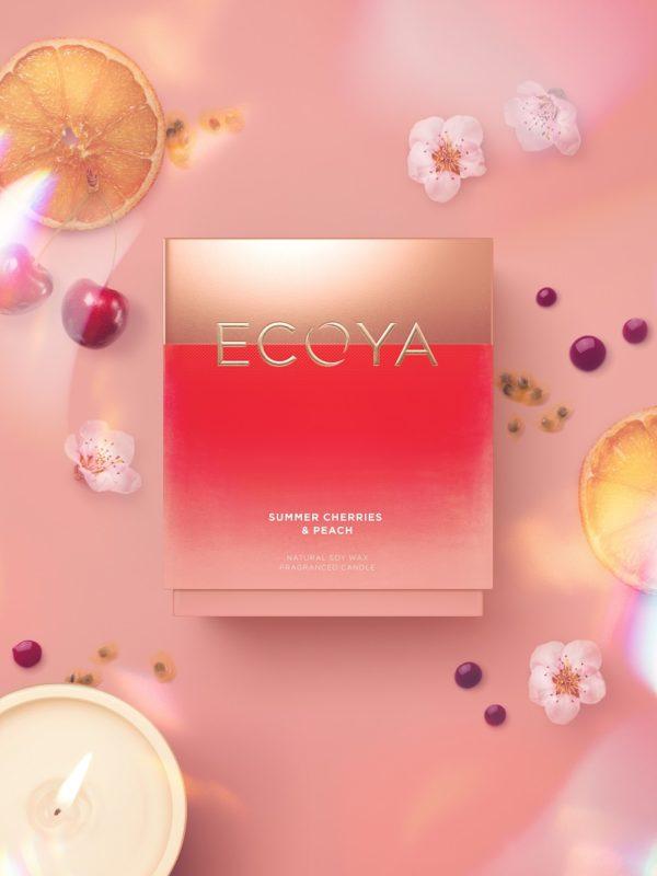 Ecoya Madison Candle - Summer Cherries & Peach