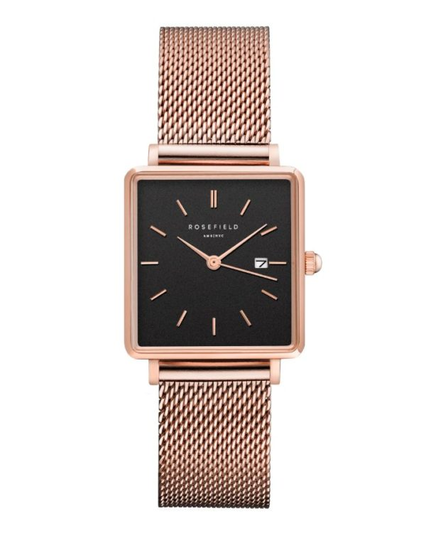 Rosefield - The Boxy - Rose Gold/Black