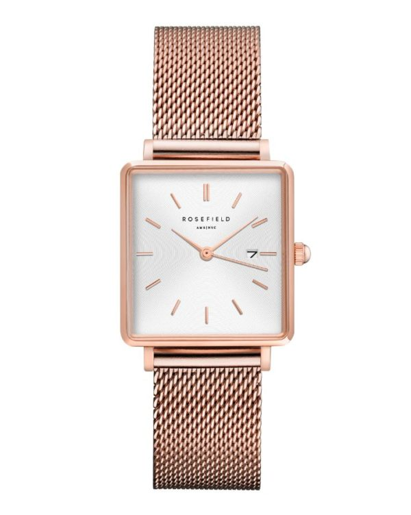 Rosefield - The Boxy - Rose Gold/White