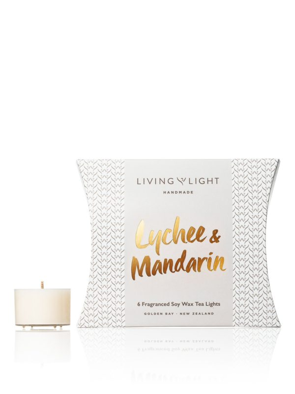 Living Light Dream Soy Tea Lights - Lychee & Mandarin