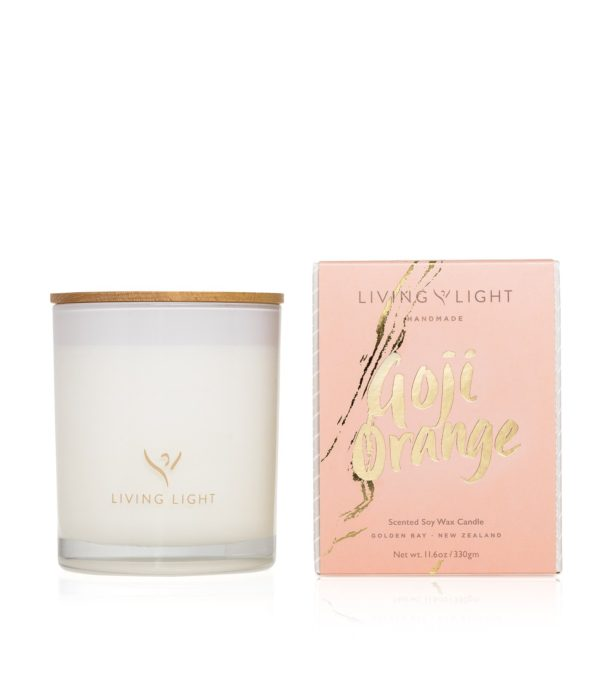 Living Light Imagine Madison Candle - Goji Orange