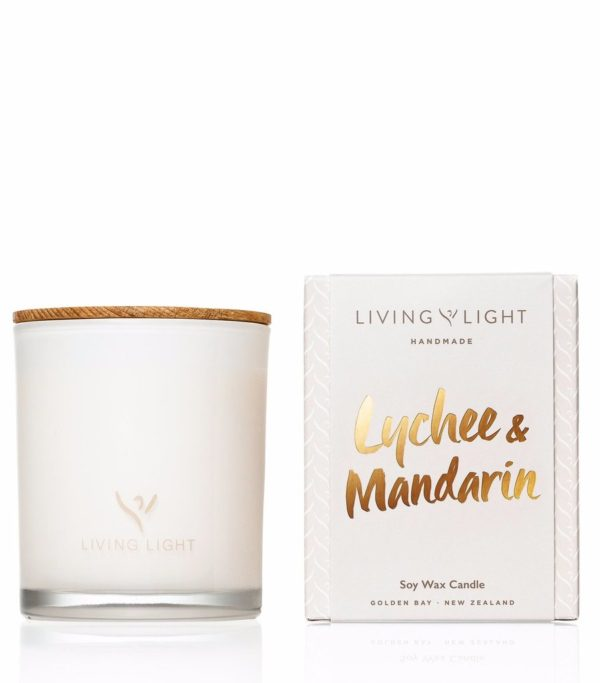 Living Light Dream Soy Jar Candle - Lychee & Mandarin