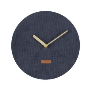Karlsson Corduroy Wall Clock - Blue