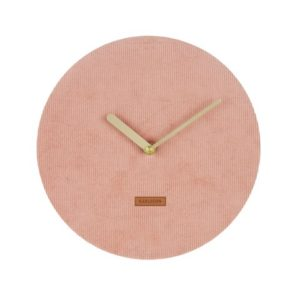 Karlsson Corduroy Wall Clock - Pink