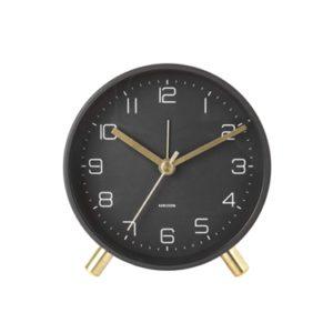 Karlsson Lofty Alarm Clock Black