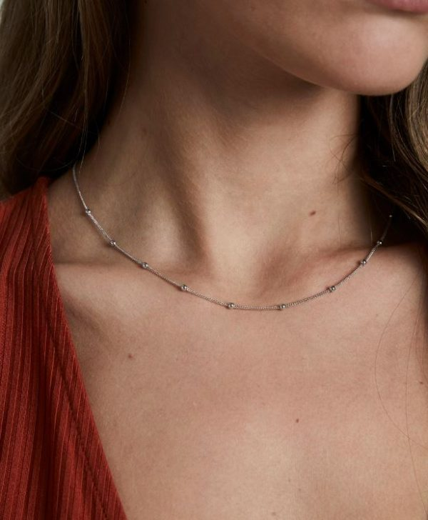 Rosefield Iggy Dotted Choker in Silver