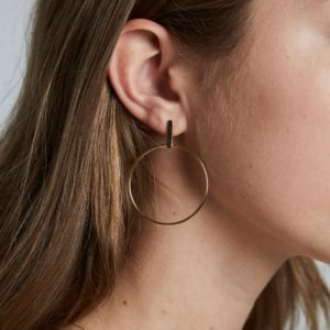 Rosefield Iggy Hoop Bar Earrings in Gold