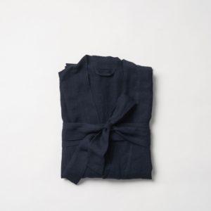 Bella Women's Dressing Gown by Citta - Navy