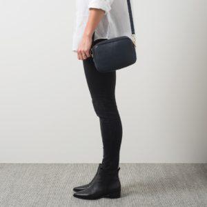 Citta Dixon Leather Handbag in Ink