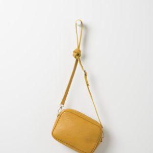 Citta Dixon Leather Handbag in Mustard