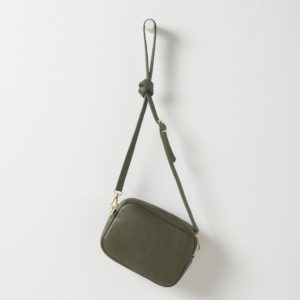 Citta Dixon Leather Handbag in Olive