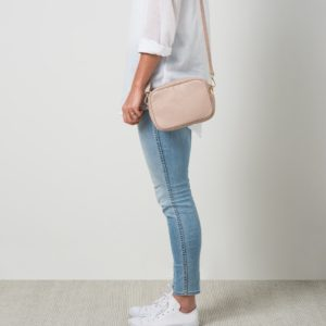 Citta Dixon Leather Handbag in Rose