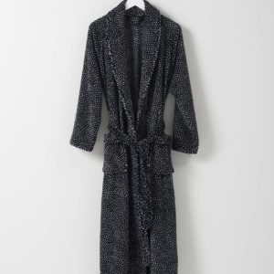Halo Women's Nap Dressing Gown by Citta - Black