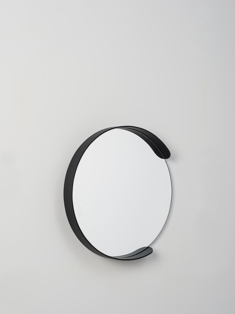 3291554735ef Citta Large Segment Mirror in Black - Intec Interiors Online Gift Shop