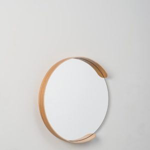 Citta Large Segment Mirror in Natural Oak