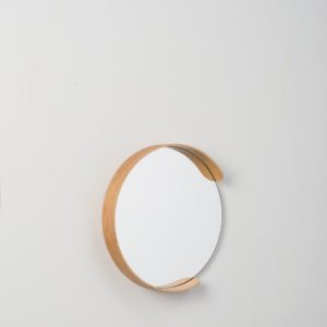 Citta Small Segment Mirror in Natural Oak