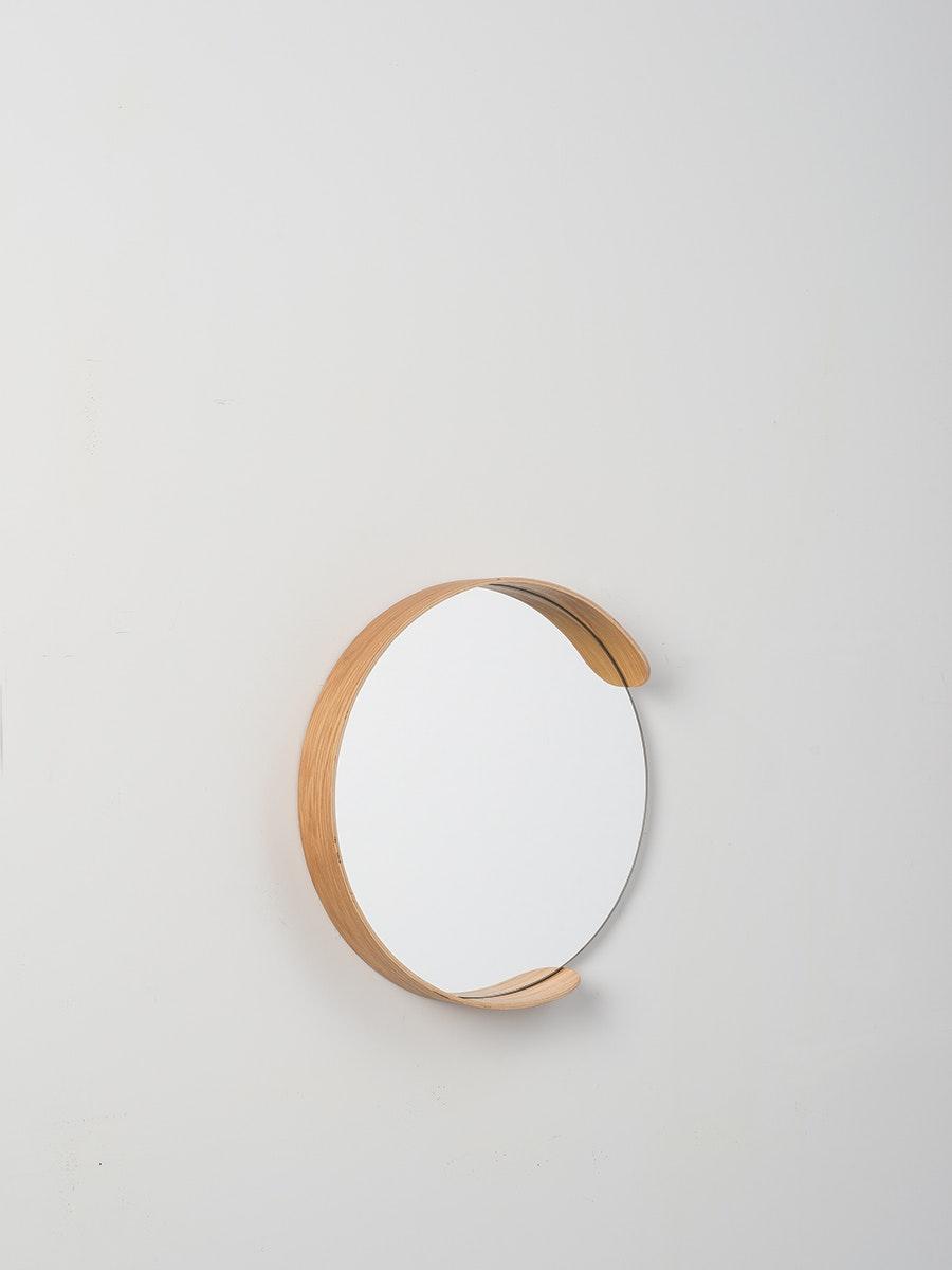 d883806b0025 Citta Small Segment Mirror in Natural Oak - Intec Interiors Online Gift Shop
