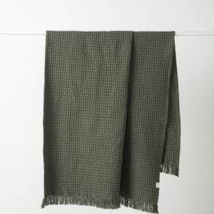 Citta Waffle Beach Towel - Moss