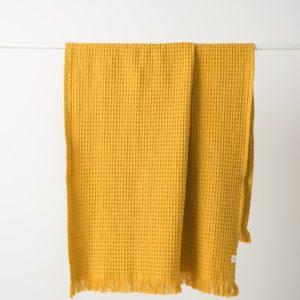 Citta Waffle Beach Towel - Mustard