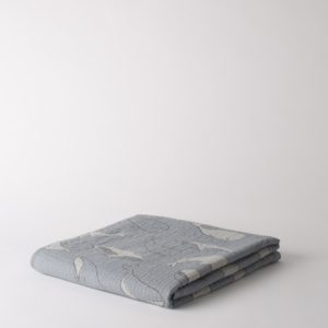 Citta Whale Of A Time Organic Cotton Muslin Cot Blanket