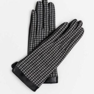 Stella and Gemma Houndstooth PU Gloves