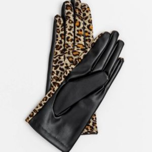 Stella and Gemma Leopard PU Gloves